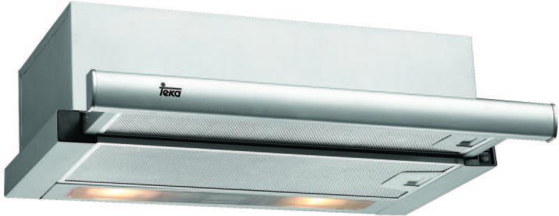 A képen a Teka TL6310  szagelszívó látható. 60 cm széles, inox előlappal