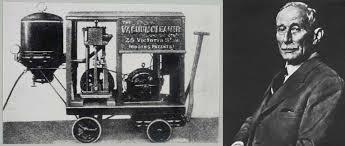 A mai porszívó történetének egyik meghatározó gépét 1901-ben Hubert Cecil Booth alkotta meg